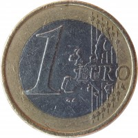 reverse of 1 Euro - 1'st Map (2002 - 2006) coin with KM# 38 from Ireland. Inscription: 1 EURO LL