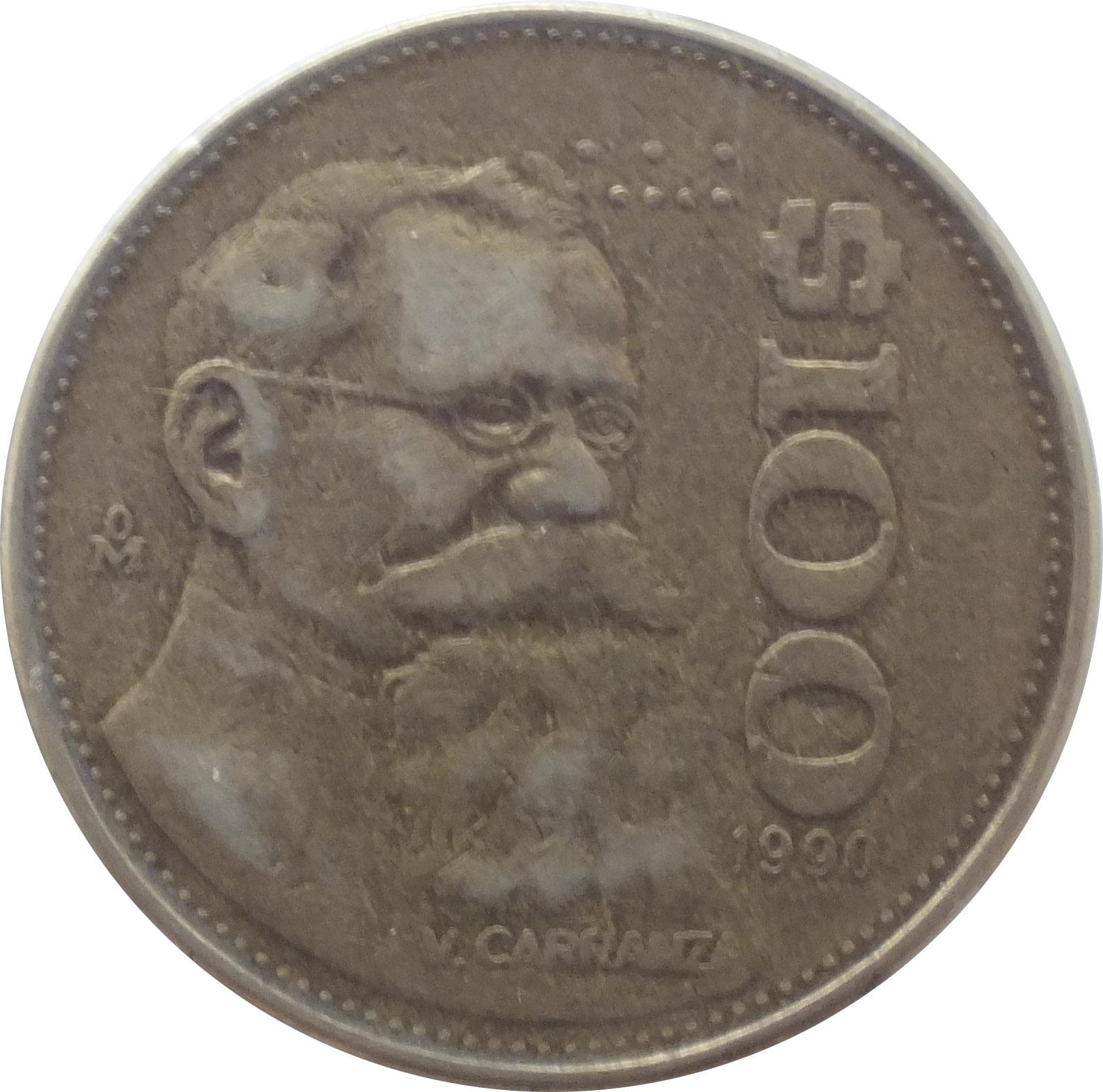 100 Pesos 1984 1992 Mexico Km 493 Coinsbook