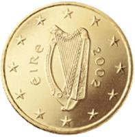 obverse of 50 Euro Cent - 2'nd Map (2007 - 2016) coin with KM# 49 from Ireland. Inscription: éIRe 2007