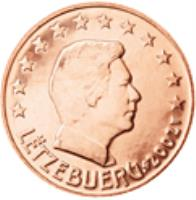 obverse of 2 Euro Cent - Henri I (2002 - 2015) coin with KM# 76 from Luxembourg. Inscription: LËTZEBUERG 2008 GC