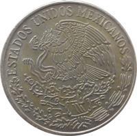 obverse of 5 Pesos (1971 - 1978) coin with KM# 472 from Mexico. Inscription: ESTADOS UNIDOS MEXICANOS
