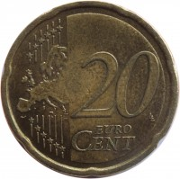 reverse of 20 Euro Cent (2009 - 2015) coin with KM# 99 from Slovakia. Inscription: 20 EURO CENT LL