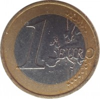 reverse of 1 Euro (2009 - 2015) coin with KM# 101 from Slovakia. Inscription: 1 EURO LL