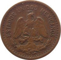 obverse of 1 Centavo (1905 - 1949) coin with KM# 415 from Mexico. Inscription: ESTADOS UNIDOS MEXICANOS