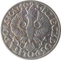 obverse of 20 Groszy - Magnetic (1923) coin with Y# 12 from Poland. Inscription: · 1923 · RZECZPOSPOLITA POLSKA