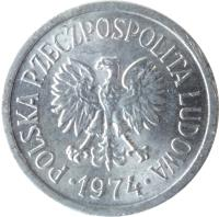 obverse of 10 Groszy (1961 - 1985) coin with Y# AA47 from Poland. Inscription: POLSKA RZECZPOSPOLITA LUDOWA · 1966 ·