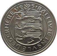obverse of 5 Pence - Elizabeth II (1977 - 1982) coin with KM# 29 from Guernsey. Inscription: S'BALLIVIE INSVLE DE GERNEREVE