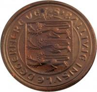 obverse of 1/2 Penny - Elizabeth II (1979) coin with KM# 33 from Guernsey. Inscription: S'BALLIVIE INSVLE DEGERNERE VE