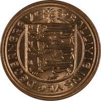 obverse of 1 New Penny - Elizabeth II (1971) coin with KM# 21 from Guernsey. Inscription: S'BALLIVIE INSVLE DE GERNERE VE