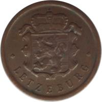 obverse of 25 Centimes - Charlotte (1946 - 1947) coin with KM# 45 from Luxembourg. Inscription: *LETZEBURG*