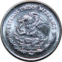 obverse of 5 Centavos (1992 - 2002) coin with KM# 546 from Mexico. Inscription: ESTADOS UNIDOS MEXICANOS
