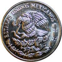 obverse of 10 Centavos - Larger (1992 - 2009) coin with KM# 547 from Mexico. Inscription: ESTADOS UNIDOS MEXICANOS