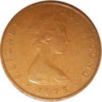 obverse of 2 New Pence - Elizabeth II - 2'nd Portrait (1971 - 1975) coin with KM# 21 from Isle of Man. Inscription: ELIZABETH THE SECOND · 1972 ·