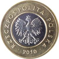 obverse of 2 Złote (1994 - 2015) coin with Y# 283 from Poland. Inscription: RZECZPOSPOLITA POLSKA · 2009 ·