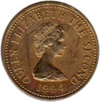 obverse of 1 Pound - Elizabeth II - 19th Century Jersey Shipbuilding - 2'nd Portrait (1994 - 1997) coin with KM# 91 from Jersey. Inscription: QUEEN ELIZABETH THE SECOND 1994