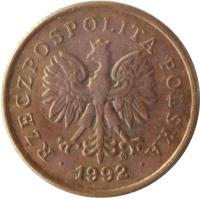 obverse of 5 Groszy (1990 - 2014) coin with Y# 278 from Poland. Inscription: RZECZPOSPOLITA POLSKA · 2013 ·