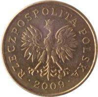 obverse of 2 Grosze (1990 - 2014) coin with Y# 277 from Poland. Inscription: RZECZPOSPOLITA POLSKA · 2013 ·