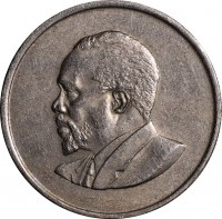 obverse of 50 Cents - Without legend (1966 - 1968) coin with KM# 4 from Kenya.