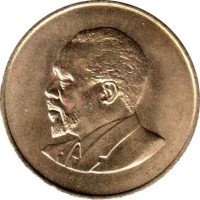 obverse of 10 Cents - Without legend (1966 - 1968) coin with KM# 2 from Kenya.