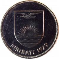 obverse of 5 Cents (1979) coin with KM# 3 from Kiribati. Inscription: KIRIBATI 1979