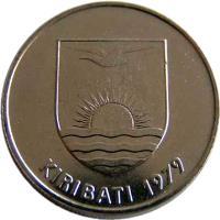 obverse of 10 Cents (1979) coin with KM# 4 from Kiribati. Inscription: KIRIBATI 1979
