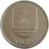 obverse of 50 Cents (1979) coin with KM# 6 from Kiribati. Inscription: KIRIBATI 1979