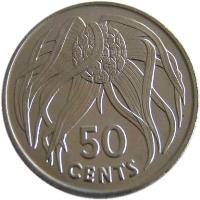 reverse of 50 Cents (1979) coin with KM# 6 from Kiribati. Inscription: 50 CENTS