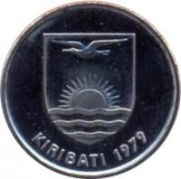 obverse of 5 Cents (1992) coin with KM# 3a from Kiribati. Inscription: KIRIBATI 1979
