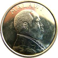 obverse of 20 Tambala (1996 - 2003) coin with KM# 29 from Malawi. Inscription: MALAŴI