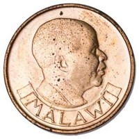 obverse of 2 Tambala (1971 - 1982) coin with KM# 8 from Malawi. Inscription: MALAWI