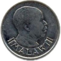 obverse of 5 Tambala (1989 - 1994) coin with KM# 9.2a from Malawi. Inscription: MALAWI