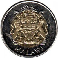 obverse of 5 Kwacha (2006) coin with KM# 57 from Malawi. Inscription: UNITY AND FREEDOM MALAWI