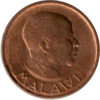 obverse of 2 Tambala (1984 - 1994) coin with KM# 8.2a from Malawi. Inscription: MALAWI