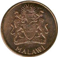 obverse of 1 Tambala (2003) coin with KM# 33a from Malawi. Inscription: MALAWI