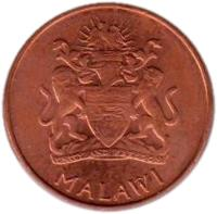 obverse of 2 Tambala (2003) coin with KM# 34a from Malawi. Inscription: UNITY AND FREEDOM MALAWI