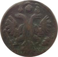 obverse of 1 Polushka - Anna / Ivan VI / Elizabeth (1730 - 1754) coin with KM# 187 from Russia.