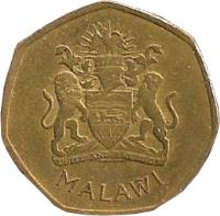 obverse of 50 Tambala (2004) coin with KM# 66 from Malawi. Inscription: MALAWI