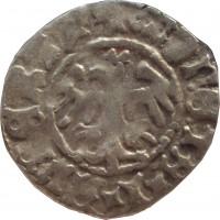 obverse of 1/2 Grosz - Jan Olbracht (1492 - 1501) coin from Poland. Inscription: MONETA*I*ALLBERTI