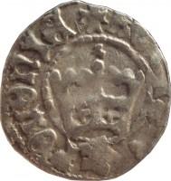 reverse of 1/2 Grosz - Jan Olbracht (1492 - 1501) coin from Poland. Inscription: REGIS*POLONIE