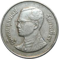 obverse of 5 Baht - Rama IX (1987 - 1988) coin with Y# 185 from Thailand.