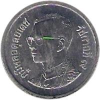 obverse of 10 Satang - Rama IX (1987 - 2007) coin with Y# 209 from Thailand. Inscription: ภูมิพลอดุลยเดช รัชกาลที่๙