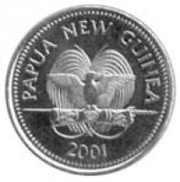 obverse of 10 Toea - Elizabeth II (1975 - 2001) coin with KM# 4 from Papua New Guinea. Inscription: PAPUA NEW GUINEA FM 1975