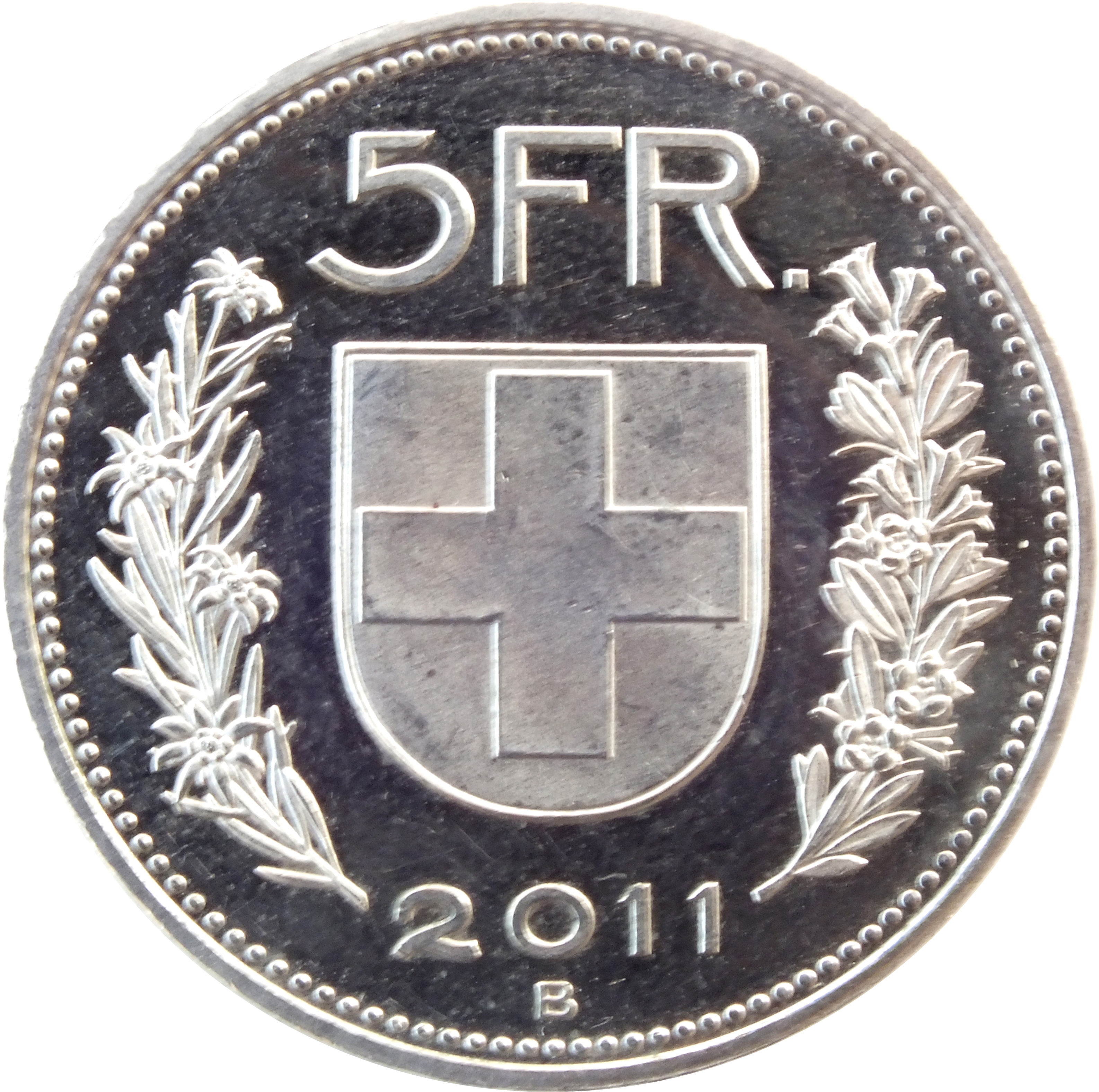 5 Francs 1968 2019 Switzerland Km