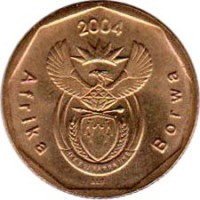 20 Cents Afrika Borwa 2004 South Africa Km 328 Coinsbook