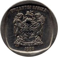 obverse of 2 Rand - UMZANTSI AFRIKA (1996 - 2000) coin with KM# 165 from South Africa. Inscription: UMZANTSI AFRIKA EX UNITATE VIRES 2000 ALS