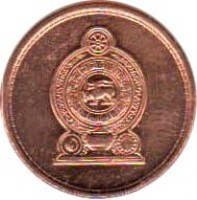obverse of 25 Cents (2005 - 2009) coin with KM# 141b from Sri Lanka.