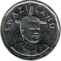 obverse of 50 Cents - Mswati III (2011) coin with KM# 59 from Swaziland. Inscription: SWAZILAND