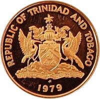 obverse of 5 Cents (1976 - 2014) coin with KM# 30 from Trinidad and Tobago. Inscription: REPUBLIC OF TRINIDAD AND TOBAGO 2007