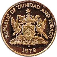 obverse of 10 Cents (1976 - 2014) coin with KM# 31 from Trinidad and Tobago. Inscription: REPUBLIC OF TRINIDAD AND TOBAGO 2006