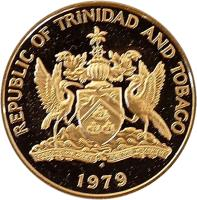 obverse of 50 Cents - Elizabeth II - Legend with REPUBLIC (1976 - 2003) coin with KM# 33 from Trinidad and Tobago. Inscription: REPUBLIC OF TRINIDAD AND TOBAGO 2003